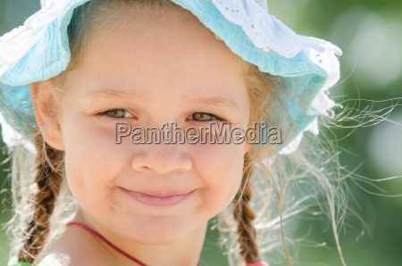 portrait of positive girl in panama