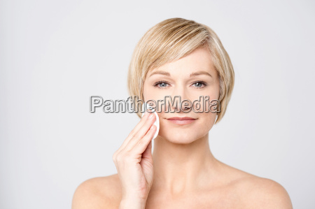 morning preparations attractive woman