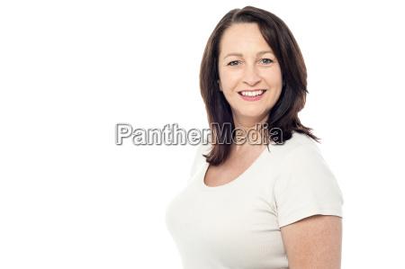 pretty woman posing in casuals