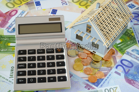 calculator with empty display on euro
