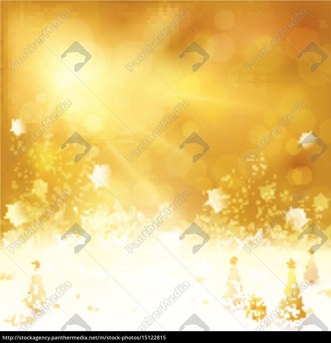 Christmas Background Images Gold.Royalty Free Vector 15122815 Golden Christmas Background With Christmas Tree And Present