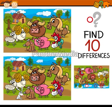 differences task with animals