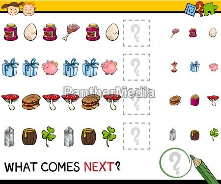 preschool educational pattern task