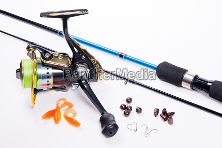 fishing rod and reel with silicone