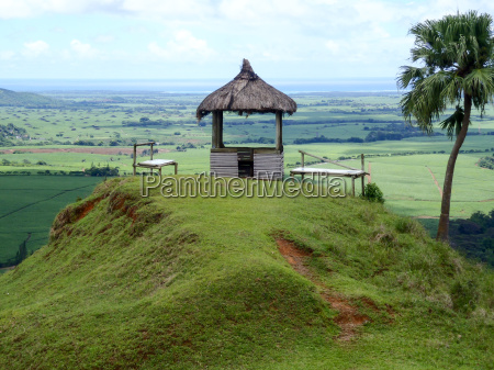 pavilion on a hill in a