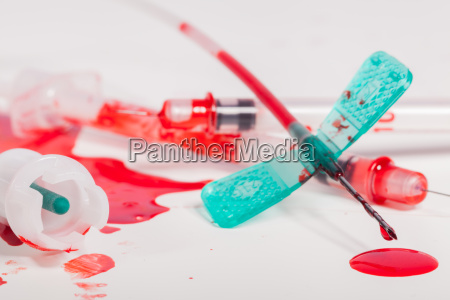 injection needle for blood collection with
