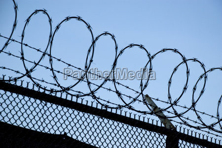 barbed wire danger prison