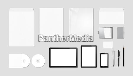 corporate branding mockup template grey background