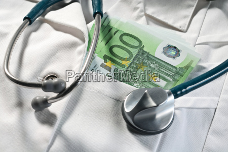stethoscope, and, bills, on, a, doctor's - 15173221