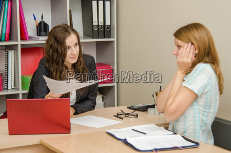 office worker is afraid of punishment