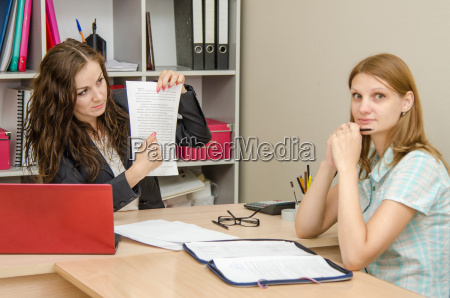 girl disappointed abandonment of office specialist