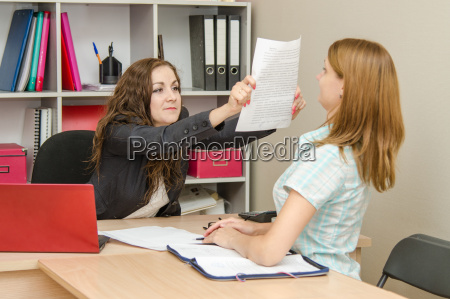 office specialist rough paper shows the