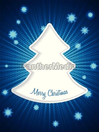 christmas greeting card with bursting snowflakes