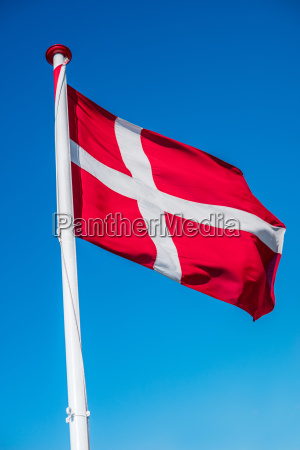 danish flag on a flag pole
