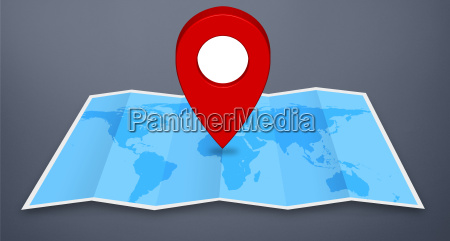 pin map iconon a blue map
