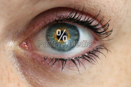 eye with a percent sign in