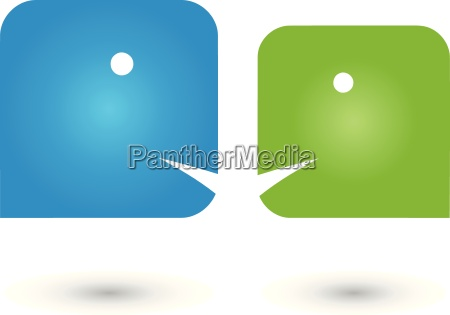 two persons logo people communication