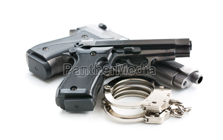 handguns and handcuffs