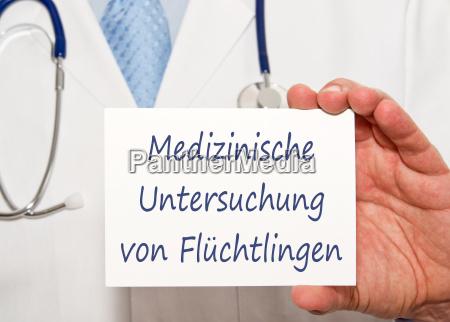 medical examination of refugees