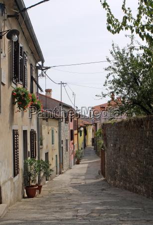 old town street in buzet