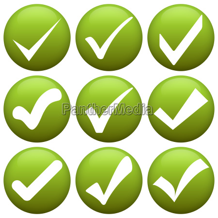 green check marks