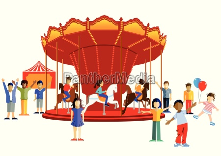 carousel with children