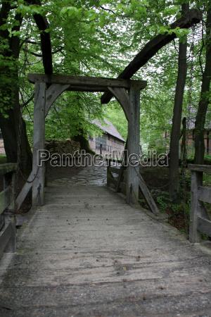wooden drawbridge