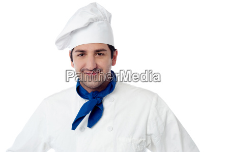 handsome young smiling chef