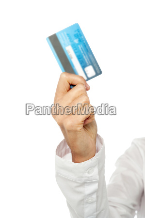 woman hand showing credit card