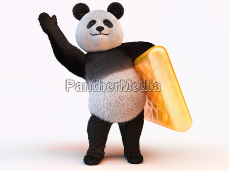 inflatable mattress with panda