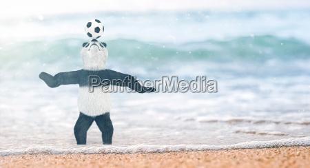 miniature circus bamboo panda teddy bear