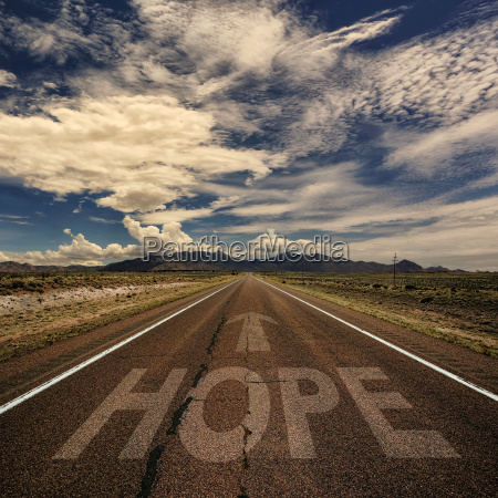 conceptual image of road with the