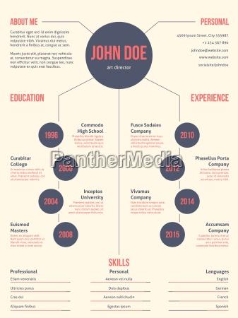 simplistic but cool modern resume cv