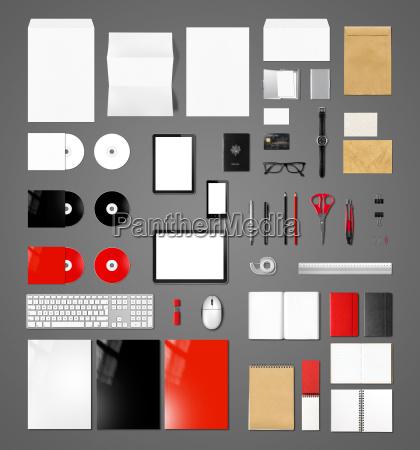 products branding mockup template dark grey