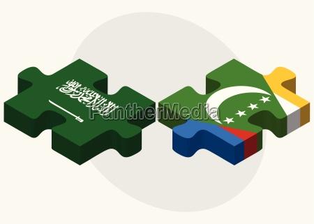 saudi arabia and comoros flags