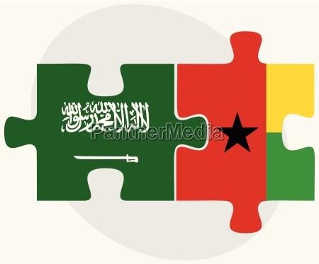 saudi arabia and guinea bissau flags