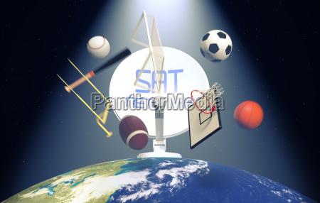 concept of sport broadcast worldwide elements