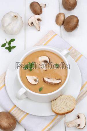 mushroom soup mushroom champignon mushrooms soup