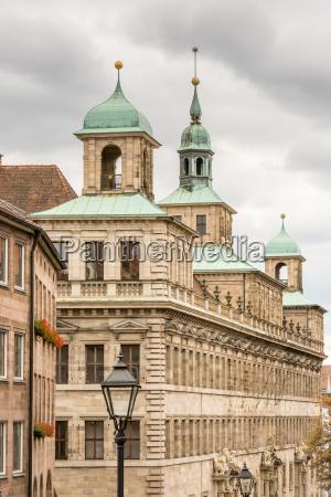 historic rathaus of nuremberg