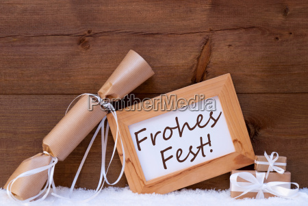 gift with text frohes fest mean