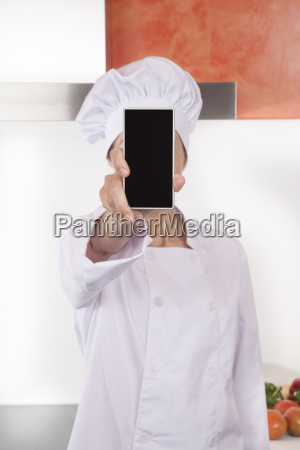 chef showing screen blank phone