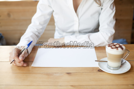 thinking to write on sheet