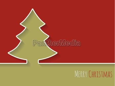 simplistic christmas greeting with white tree