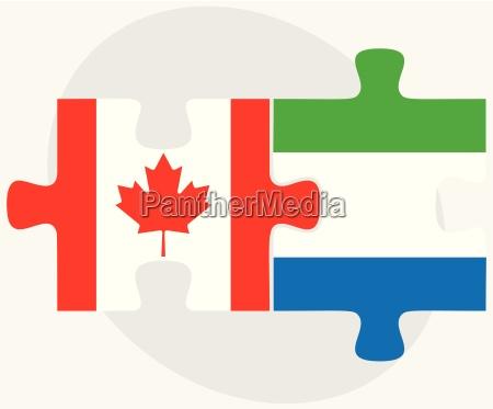 canada and sierra leone flags