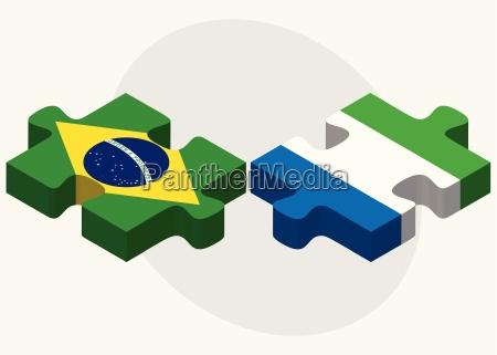 brazil and sierra leone flags