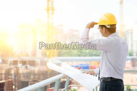 asian indian male site contractor engineer