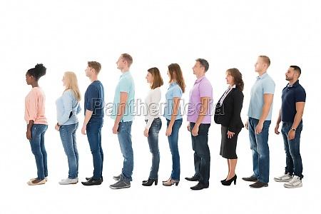 sidebillede af creative business people standing