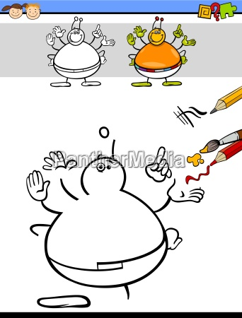 coloring task for preschoolers