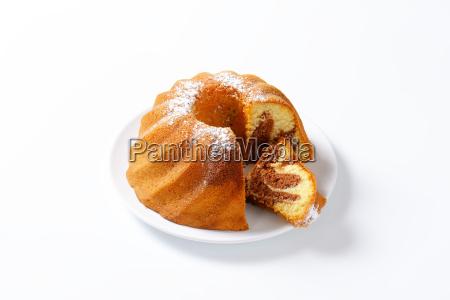 chocolate and vanilla kugelhopf cake