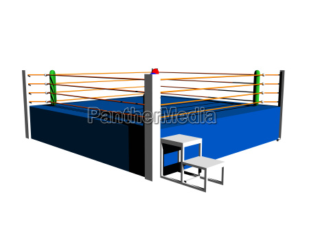 isolated boxing ring